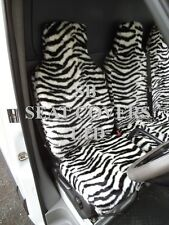 TO FIT A CITROEN DISPATCH, 2007, VAN SEAT COVERS, ZEBRA FAUX FUR