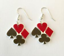 Deck of Cards Suits Earrings Hearts Spades Clubs Diamonds Charms