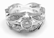 New! Authentic Carrera Y Carrera White Gold 18k Mi Princes Diamond Crown Ring