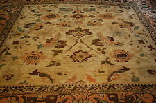 c 1850s' ANTIQUE MUSEUM AGE SQUARE SIZE PERSIAN SULTANABAD MAHAL RUG 10.7x10.9