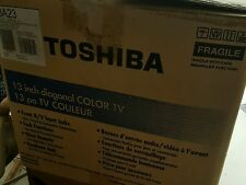 "Toshiba 13a23 Television 13"" diagonal Color TV w/ Remote Nice Gaming TV"