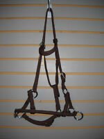 Rope Side Pull Bitless Trail or Endurance Bridle Adjustable Horse Size BROWN