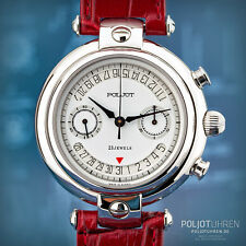 POLJOT ПОЛЁТ Basilika Casino Open Date Chronograph 3133 Russian mechanical watch