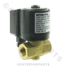 "BRAHMA E6G 3/8"" 230v UNIVERSAL GAS INLET BRASS SOLENOID VALVE FOR PIZZA OVEN ETC"