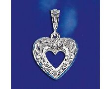 Sterling Silver Heart Pendant Italian Gorgeous Love Charm Solid 925 Italy New