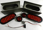 "Trailer Truck LED Steel 6"" OVAL Tail Light Guard Box COMPLETE KIT w/marker light"