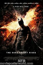 THE DARK KNIGHT RISES MOVIE POSTER ORIGINAL DS 27x40 MoPoWo