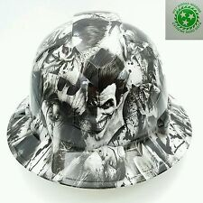 Customized Pyramex Full Brim SINISTER JOKER Hard Hat With Ratcheting Suspension