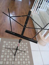 STAGELINE BLACK COLORED FOLDING TRAVEL PROFESSIONAL MUSIC STAND MS3BK