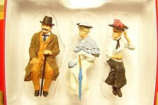 Preiser G scale 1:22.5 THREE Old Time Seated Figures 45056 -- Clothes Color # 2