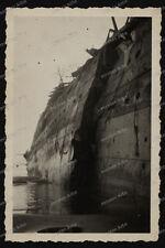 Vintage Photo-France-Küste-Schiff-schiffswrack-shipwreck-Wehrmacht-Normadie?
