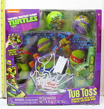 LTB: TMNT TEENAGE MUTANT NINJA TURTLES BATH TOY TUB TOSS BASKETBALL w/ BODY WASH