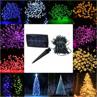 100 LED String Solar Powered Fairy Lights Garden Christmas Outdoor