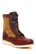 WOLVERINE Rowan 1000 Mile Wedge Work Boot Men's Canvas Leather Brown 8.5 M NEW