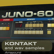 ROLAND JUNO-60 & JUNO 6  for KONTAKT .nki PATCHES & WAV SAMPLES  24 BIT QUALITY