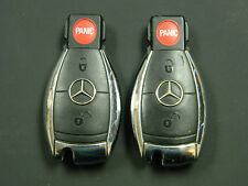 LOT OF 2  Mercedes Benz Infra Red Chrome Key Keyless  Fob OEM IYZ 3317 IYZ3317