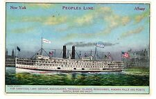 Hudson River NY-PEOPLES LINE DAYLINER CW MORSE-NEW YORK CITY TO ALBANY- Postcard