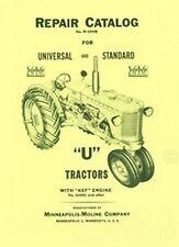 Minneapolis Moline UTS UTI  Repair Parts Manual Catalog