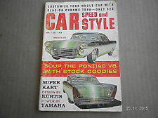 CAR SPEED AND STYLE MAGAZINE  SEPT 1960...CUSTOMIZE CAR WITH GLUE-ON TRIM