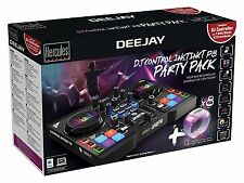 HERCULES INSTINCT S PARTY PACK ultra-mobile USB DJ Controller with Audio Outputs