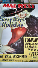 vintage Mae West Louis Armstrong Every Days a Holiday wall poster PBX3497