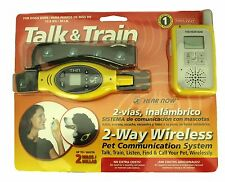 Talk and Train 2-Way Wireless Dog over 30 lbs Training Collar 2 Mile Distance