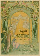 """Belle  Affiche Ancienne Expo Universelle Paris 1900 """"Palais du Costume"""""""