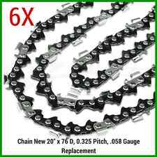 "6XCHAINSAW CHAINS 325"" 058 76DL for Baumr-Ag SX62 SX66 for 20"" bar"
