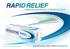 2 X(SENSODYNE RAPID RELIEF TOOTH PASTE FOR SENSITIVE TEETH -70 Grams FREE SHIP)