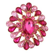 Beautiful red crystal fashion alloy brooch