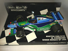 Minichamps F1 1/43 BENETTON FORD B194 - Michael Schumacher - 1st MONACO GP 1994