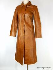 Gap Sz S Long Camel Brown Distressed Leather Duster Coat