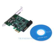 New USB 3.0 TYPE-C + A + 19PIN SATA power-on Expansion Card PCI-E Adapter 5Gbps