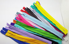 20pcs mix Nylon Coil Zippers Tailor Sewer Craft 9 Inch Crafter's &FGDQRS @