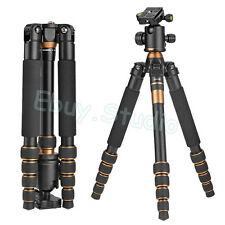 Portable Camera Tripod Monopod & Ball Head Light-Weight For SLR DC Photo Travel
