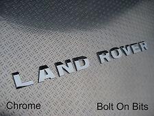 LAND ROVER Raised 3D Lettering Badge Decal Logo CHROME Defender Tdci/Td5