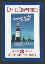 #150.629 vintage WIDE swap card -EXC- Advert. Daniel Crawford's Scotch Whiskey