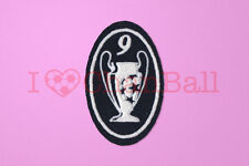 UEFA Champions League 9 Times Trophy (dark blue) Sleeve Soccer Patch / Badge