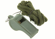 REFEREE EMERGENCY SURVIVAL SPORTS WHISTLE & LANYARD IN GREEN BY HIGHLANDER
