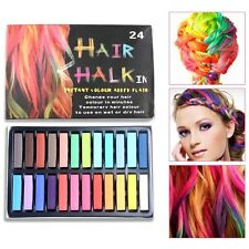 24 Colors New Fashion Hot Fast Non-toxic Temporary Pastel Hair Dye Color Chalk