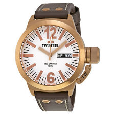 TW Steel CEO Canteen 45mm  White Dial Mens Watch CE1017