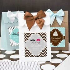 24 Personalized Wedding Bridal Shower Favor Bags Candy Buffet Boxes Favors