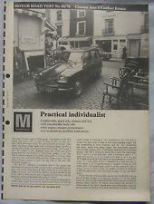 1970 Citroen Ami 8 Confort Estate Original Motor magazine Road test