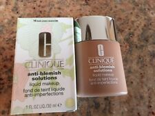 NIB Clinique Anti-Blemish Solutions Lqd Makeup 1 fl.oz. - 18 Fresh Cream Caramel