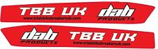 DAB PRODUCTS TRIALS SWINGING SWING ARM  STICKERS 1PR GAS GAS SHERCO STYLE CUT