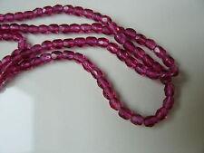 Lot de 50 perles à facettes 4mm violet