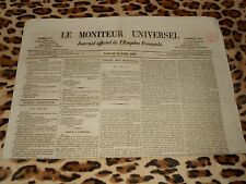 LE MONITEUR UNIVERSEL, journal officiel de l'empire français, n° 211, 30/07/1858