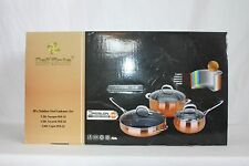 Dell'Arte Luxury Collection Stainless Steel Cookware Set - 6 Piece - Copper