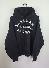 VTG MENS BLACK USA ATHLETIC SPORTS BASEBALL OVERHEAD SWEATSHIRT HOODIE UK M