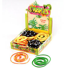 "New Halloween Animal Prop Fancy Party Fake Rubber Snakes 42"" Assorted Colours"